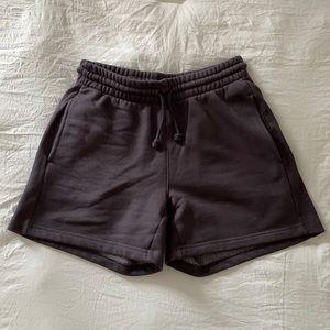 "Aritzia Cozy AF Sweatfleece 5"" High Waisted Shorts"
